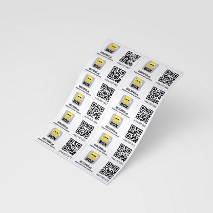 """Набор самоклеющихся этикеток """"Look in BOX"""" с уникальными QR-кодами (120 шт.)"""