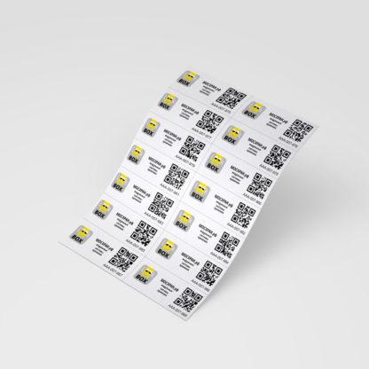 """Набор самоклеющихся этикеток """"Look in BOX"""" с уникальными QR-кодами (140 шт.)"""