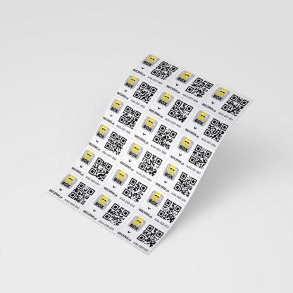 """Набор самоклеющихся этикеток """"Look in BOX"""" с уникальными QR-кодами (180 шт.)"""