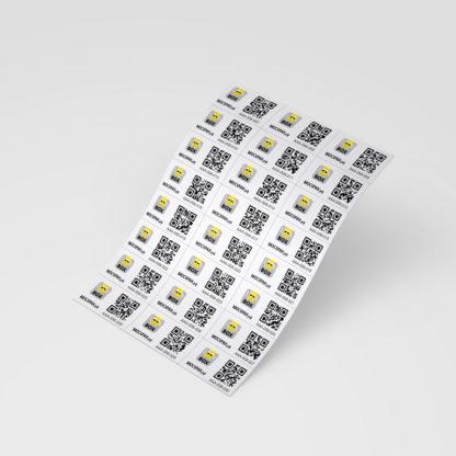 """Набор самоклеющихся этикеток """"Look in BOX"""" с уникальными QR-кодами (240 шт.)"""